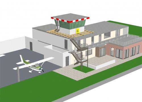 Architekt Krueger Gelnhausen Umbau Sanierung Flugplatz Gaststätte Architektur