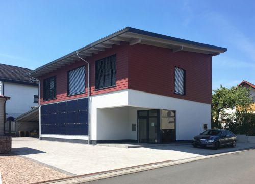 Architekt Krueger Neubau Firmengebäude Solarfirma Gewerbliche Bauten Architektur Biebergemünd