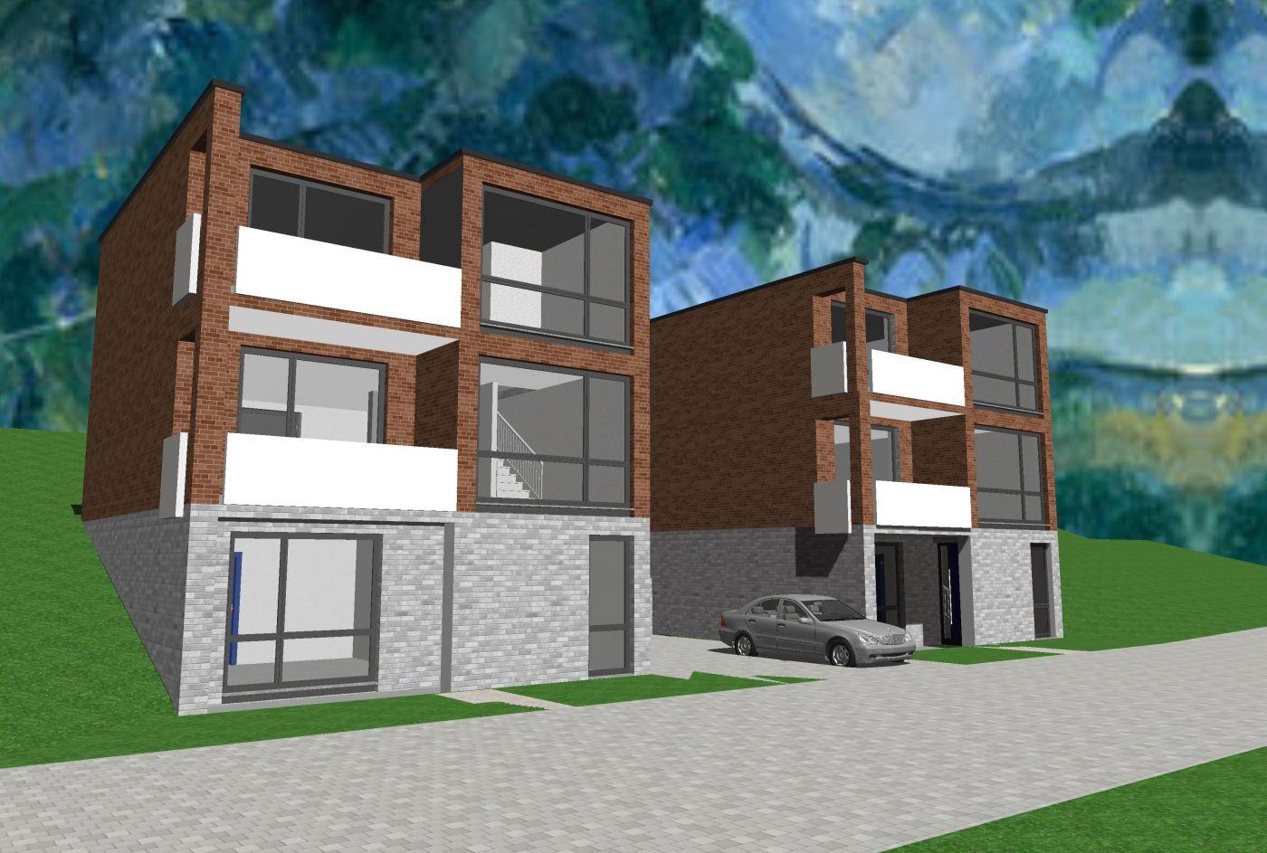 Entwurf Wohnhäuser Hailer