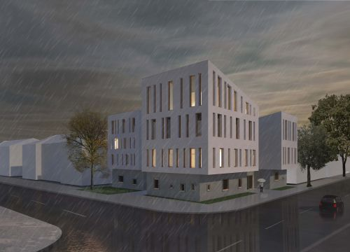 Architekten Krüger Linsengericht Straßenansicht Entwurf