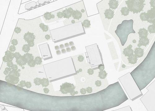 Architekt Krueger Lageplan Wettbewerb Anlage im Park